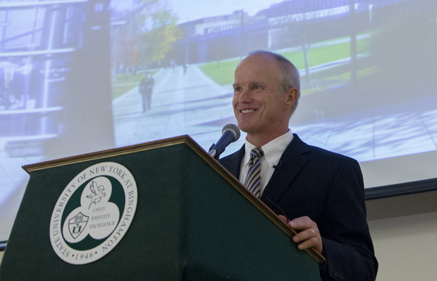 President Harvey Stenger at the Road Map kick-off in September 2012. The Road Map Steering Committee agreed to fund 10 Road Map proposals for the 2015-16 academic year.