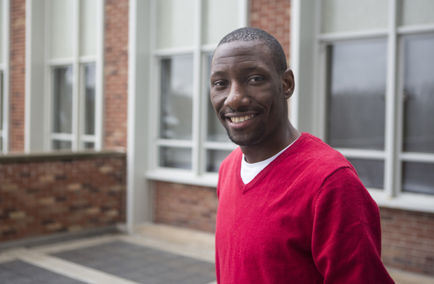 Ivan Sekyonda, who will receive his master's degree in computer engineering, has helped new international students as part of the Office of International Student and Scholar Services staff.