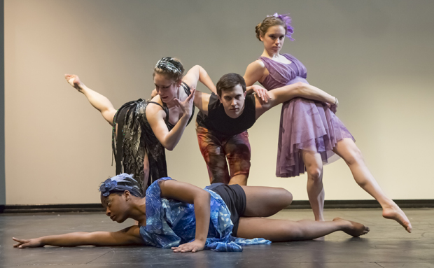 Kiana Smith, bottom, Nicole Dlug, left, Brenden Gregory and Katie Leenig are some of the dancers who will be featured in