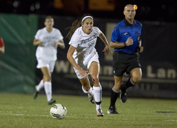 Senior Sarah Furminger scored the game-winning goal in the 61st minute against Cornell on Sept. 12.