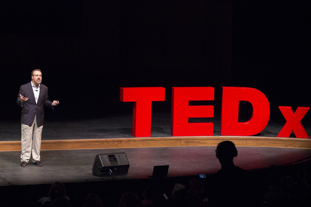 Artificial intelligence expert David Ferrucci speaks at the 2013 TEDx Binghamton University conference. This year's conference will take place March 30.
