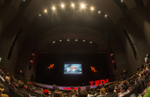 A view of the Osterhout Concert Theater before the 2014 TEDxBinghamtonUniversity conference began. This year's event will take place at 1 p.m. Sunday, March 15.