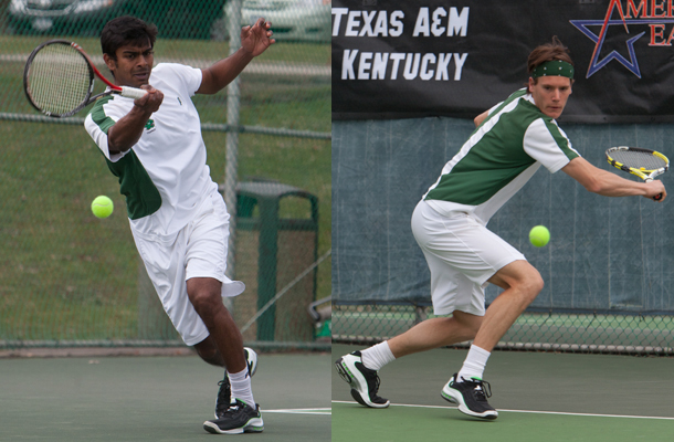 Seniors shine in men's tennis victories