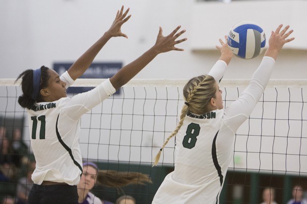 Junior Bianca Anderson and senior Megan Burgess are key returning places for the Binghamton University volleyball team.