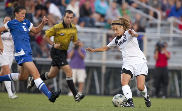 Senior midfielder Brittany Walsh scored the first of the Bearcats' three goals in a victory over Bucknell on Aug. 17.