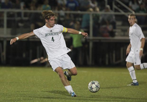 Senior Ryan Walter scored one of Binghamton University's five goals in a 5-1 victory over Boston University on Oct. 30.