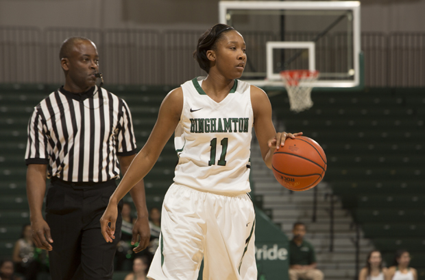 Imani Watkins scored 23 points and added eight rebounds, seven assists and four steals in a victory over Colgate.