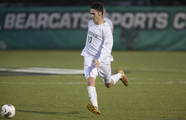 Senior Adam Whitehead scored the Bearcats' first goal in a 2-2 tie against Buckne