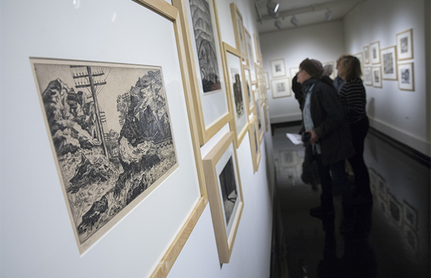 Donor speaks about prints on display in 'Works on Paper Between the Wars' exhibition