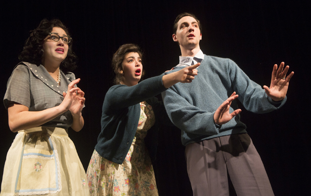 Danielle Nigro, left, Laura Potel and Rob Tendy are among the performers featured in the Theatre Department's production of