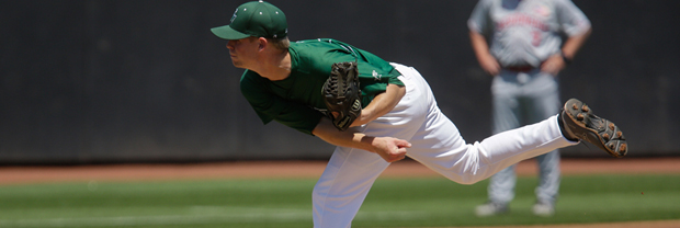 Junior Greg Ostner pitched 8.1 solid innings against Nebraska in the NCAA Regional on May 31.