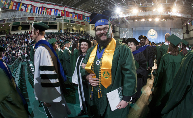 The Fall Commencement ceremony will take place at noon Sunday in the Events Center.