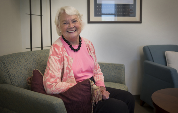 Patricia Ingraham, founding dean of the College of Community and Public Affairs, sits in her office in the University Downtown Center. Ingraham is retiring after seven years in the position.