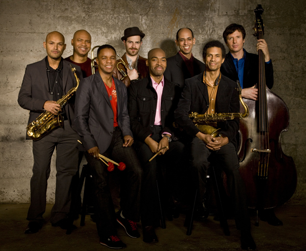 The SFJAZZ Collective, featuring Stefon Harris, front left, will perform music from Motown legend Stevie Wonder at an Anderson Center for the Performing Arts concert on Thursday, Oct. 6. Binghamton University is the second stop on the Collective's fall tour.