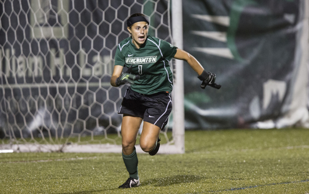 Freshman Katie Hatziyianis, above, and senior Gaby Gold combined for the Bearcats' third shutout of the season.