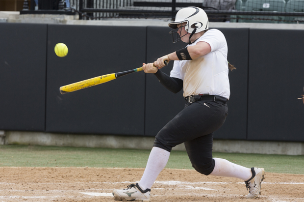 Kate Richard's first-inning grand slam helped the Bearcats defeat Albany, 11-6, on April 19, in front of a record-setting crowd at the Bearcats Sports Complex Softball Facility.