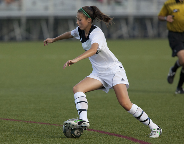 Freshman Emily Nuss scored the third of Binghamton's three goals in a victory over Vermont on Oct. 20.