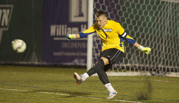 Robert Moewes recorded his fourth shutout of the season as the Bearcats and St. Bonaventure played to a scoreless tie on Sept. 30.