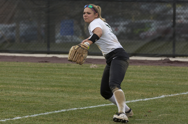 Senior outfielder Sydney Harbaugh has been named the first-term all-conference for the past three seasons.