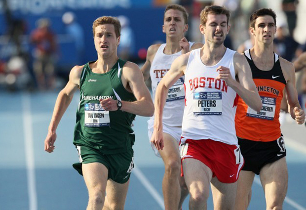 Erik van Ingen wins the second preliminary heat in the 1,500 at the NCAA Outdoor Track & Field Championships on June 7. He finished 8th in the finals of the event on June 9 and went on to finish 27th in the opening round of the event at the U.S. Olympic Trials.