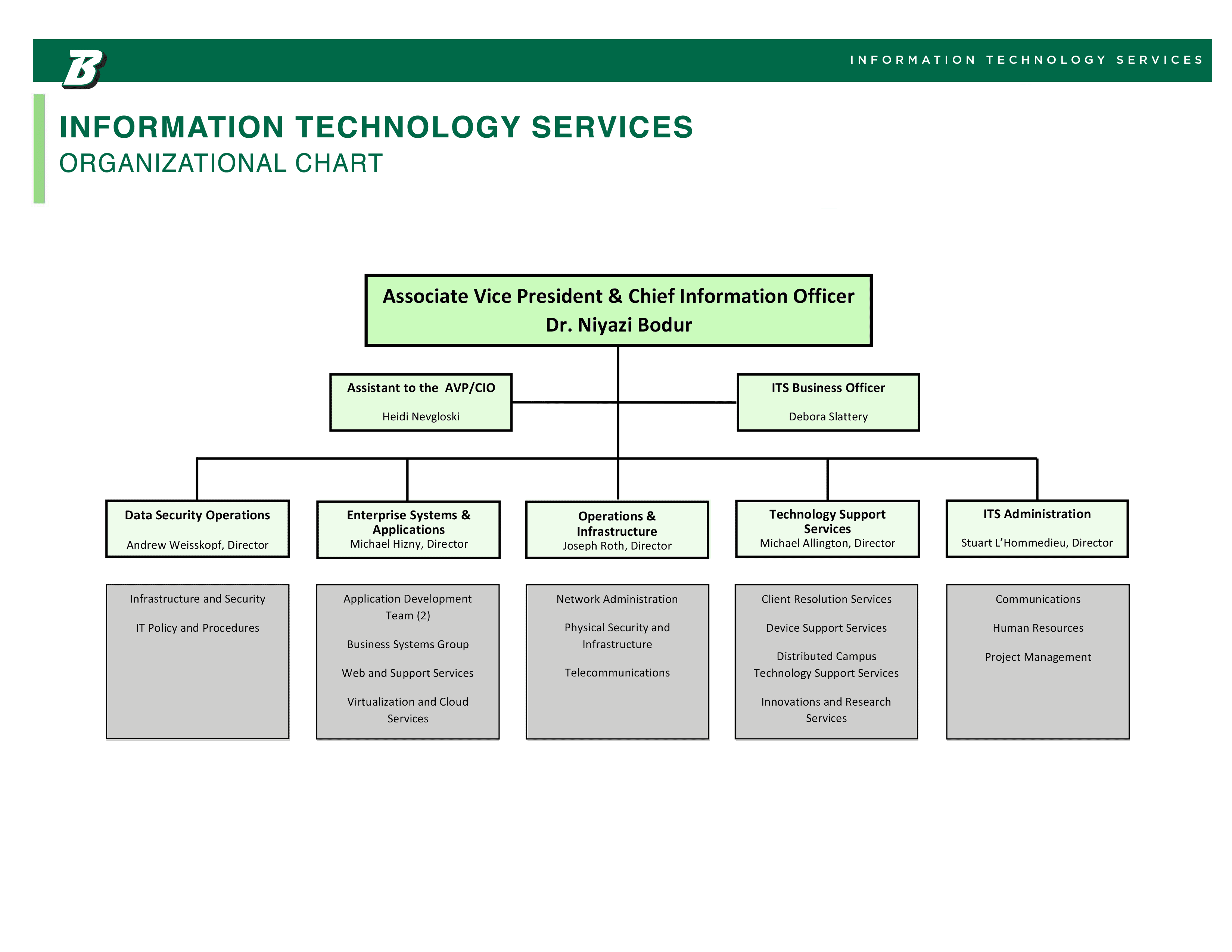 information technology services organizational chart