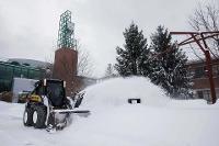 Storm Stella snow removal