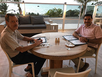 Ron Miles and Mohammad Younis in Saudi Arabia