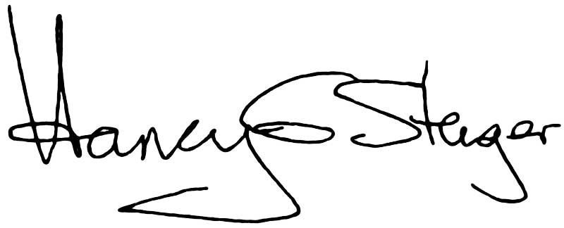 Harvey Stenger signature