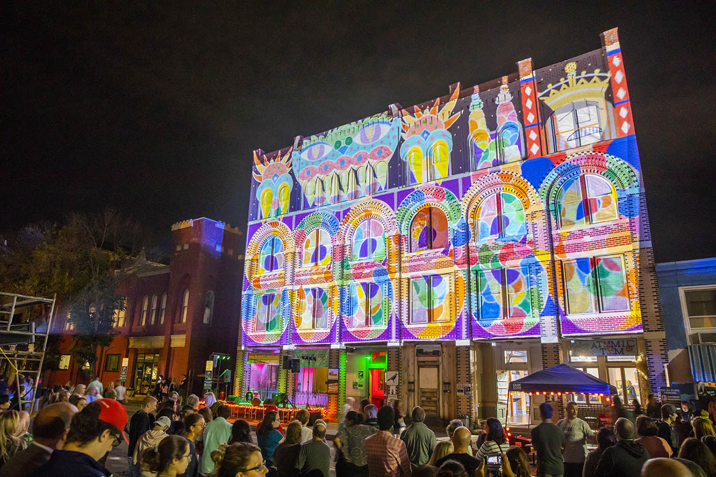 Tens of thousands of attendees flock to downtown Binghamton for the LUMA Projection Arts Festival.