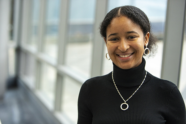 Hadja Diallo, a senior majoring in human development with a minor in economics, will use her experience as a fellow in the Thomas R. Pickering Graduate Fellowship Program to pursue a career in foreign service.