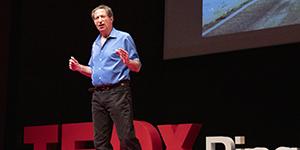 Peter Guttman '76 gives his TEDxBinghamtonUniversity talk,