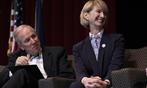 Executive Vice President for Academic Affairs and Provost Donald Nieman and SUNY Chancellor Johnson.