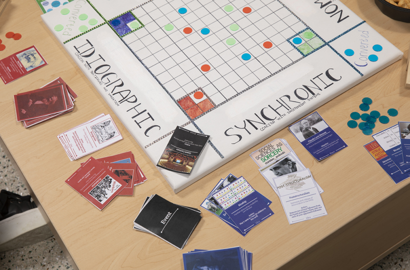 In SNID, players take on the role of prominent theorists such as Karl Marx and Franz Boas while trying to gain followers.