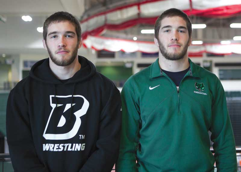 Wrestlers Vincent and Anthony DePrez (left to right).