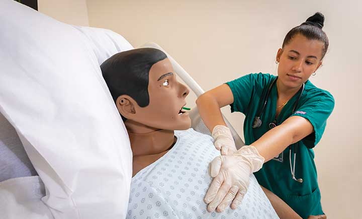 High-fidelity patient simulators, like the 10 financed by the Decker Foundation, are especially useful for teaching high-risk, low-frequency scenarios where skills such as CPR, defibrillation, ultrasound and ventilation may be required.