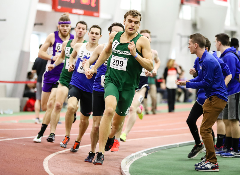 Eric Holt is the third Binghamton University to break the four-minute mile. Erik van Ingen and Jesse Garn were the others.