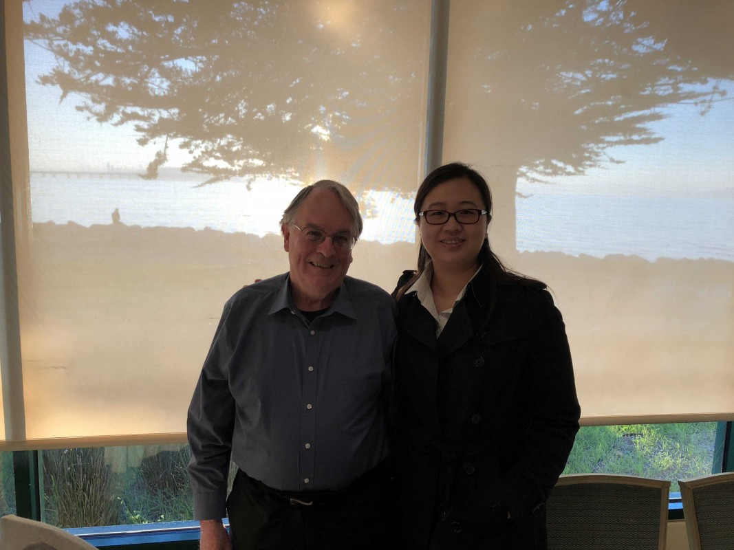 Jie Xiao with Distinguished Professor M. Stanley Whittingham.
