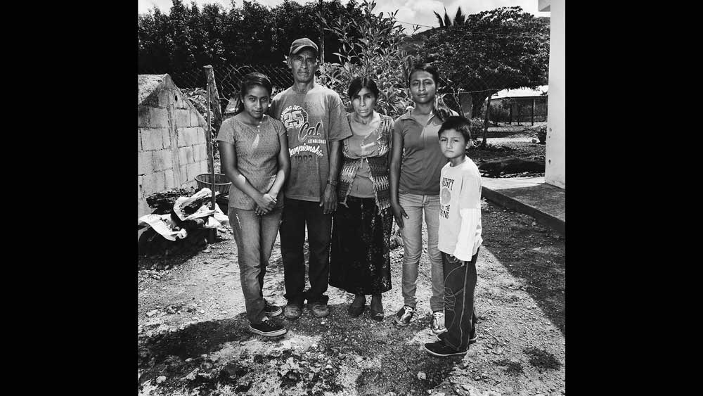 Alejandro and María (second and third from left) are the parents of five children. Both are state-less. Consequently, their two eldest Mexican-born children (not pictured) encountered barriers in obtaining legal status that significantly delayed their schooling. Parents' lack of legal status created similar obstacles for Mexican-born nationals in obtaining social services from the state.