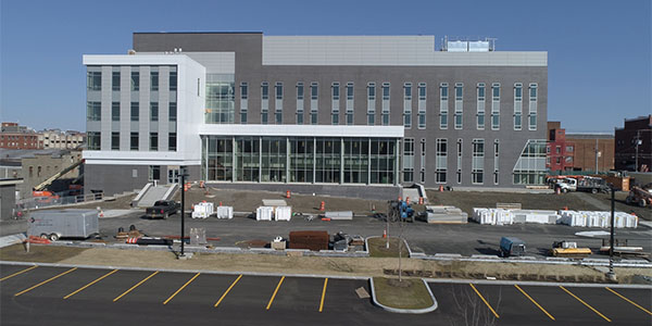 Binghamton University's new, state-of-the-art, $60 million School of Pharmacy and Pharmaceutical Sciences building will open this month at its Health Sciences Campus in Johnson City, N.Y.