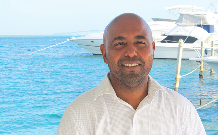 Richard Francis, MPA '12, has worked in government, tourism and fi shery industries for the Colombian Island of San Andrés.