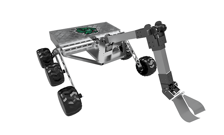 A rendering of the proposed Binghamton University Mars Rover.
