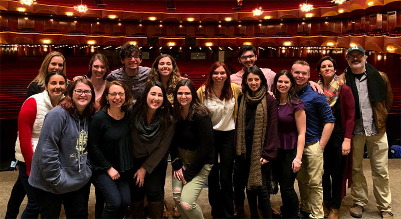 Winter Theatre Week in NYC gave students the opportunity to get a behind-the-scenes look at Broadway and network with Binghamton University alumni.