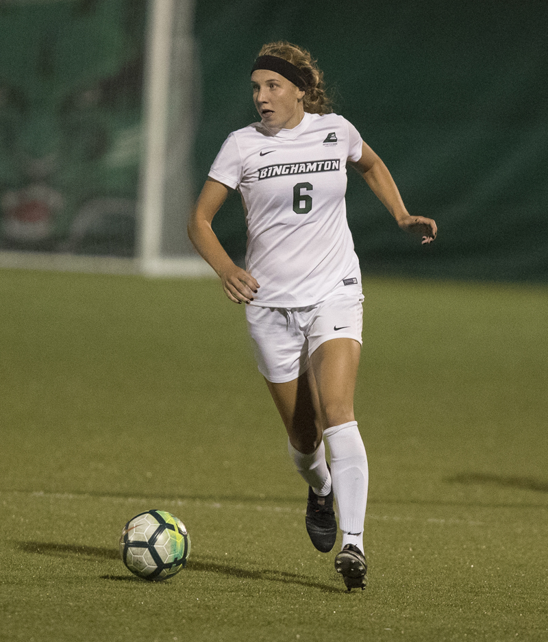 Sophomore defender Erin Theiller was named to the America East's second-team all-conference last season.