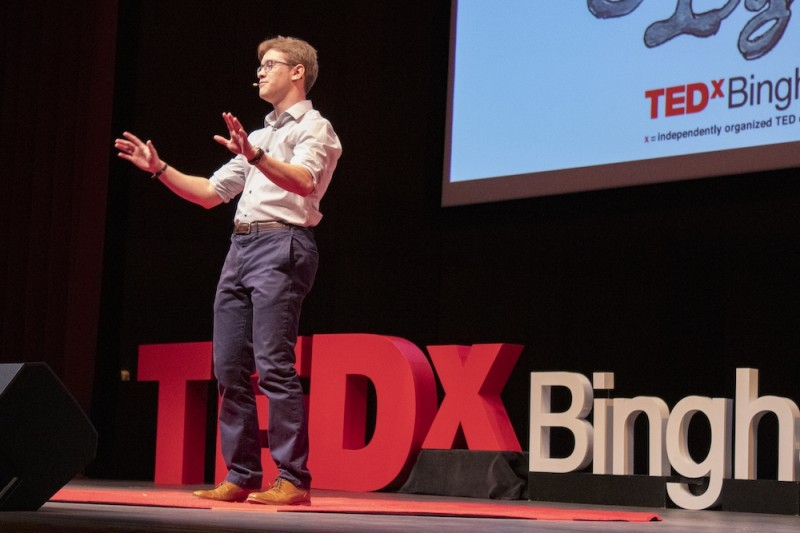Jonathan Caputo, was the student-speaker at TEDx Ignite held at the Anderson Center for the Performing Arts on March 3, 2019.