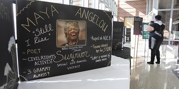 Binghamton University hosted the Dragon Panel Project, an art installation that aims to bear witness to interpersonal, political and hate violence against women of color. An opening reception was held Wednesday, April 3, in the University Downtown Center.