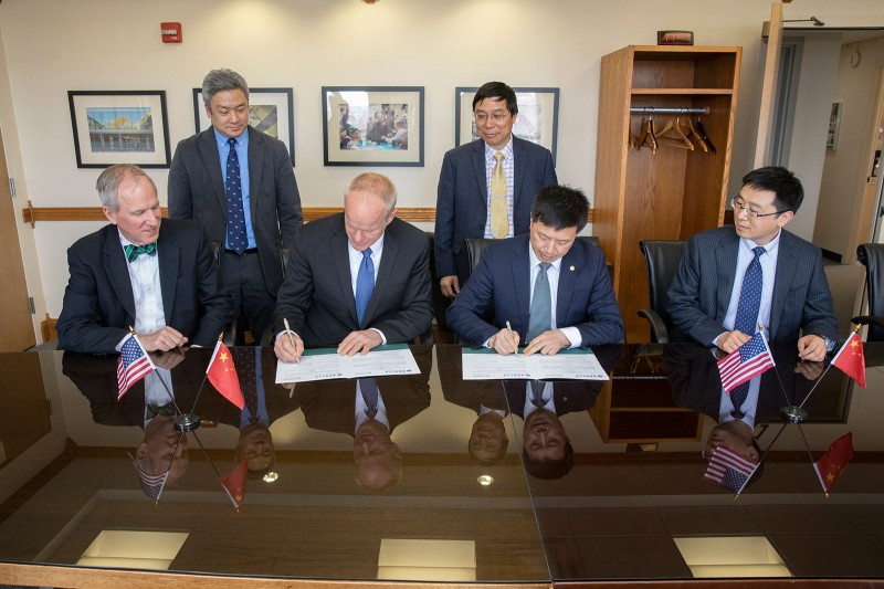 Officials from Binghamton University and the East China University of Science and Technology (ECUST) signed a memorandum of agreement  in April.