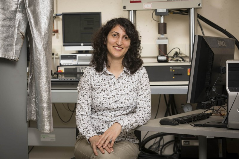 Associate Professor Shahrzad (Sherry) Towfighian from the Thomas J. Watson School of Engineering and Applied Sciences' Department of Mechanical Engineering studies microelectromechanical systems.