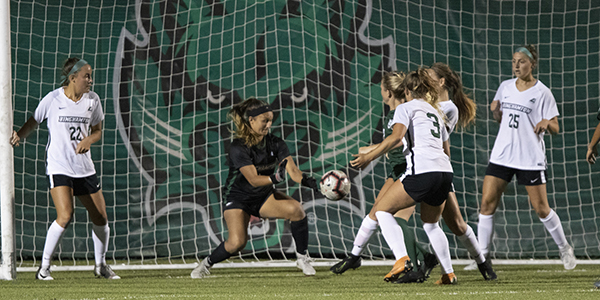Binghamton University women's soccer defeats Wagner University 1-0, Sept. 12, 2019, at the Bearcats Sports Complex. The team was undefeated in five home games and 3-2-1 in away games at the time of this report.