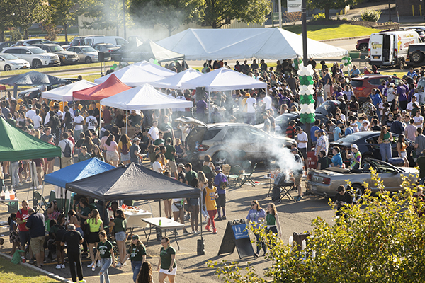 Alumni and friends turned out in force for Tailgate '19, held in the Events Center parking lots prior to the men's soccer game against Monmouth University the Saturday of Homecoming Weekend. The teams plays to a scoreless tie.