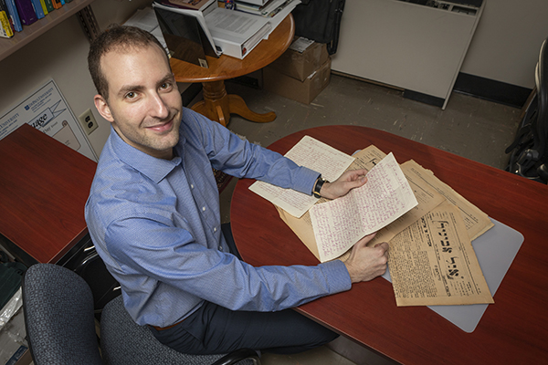 Assistant Professor of Spanish and Linguistics Bryan Kirschen is working to preserve the Ladino language, which can be traced back to the 15th century.